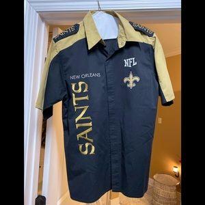 New Orleans saints button down shirt